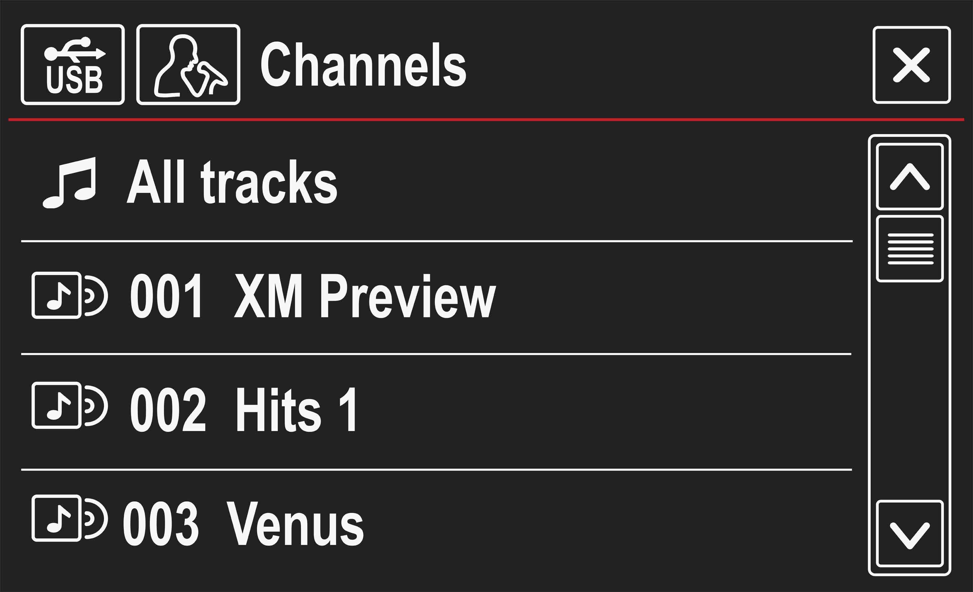 Vw Channel List Gsr Sat Radio Nav Display